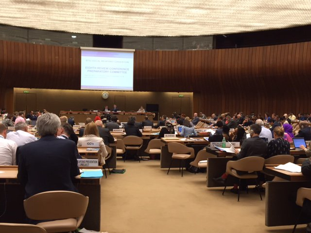Representatives of states-parties to the Biological Weapons Convention met in Geneva August 8-12 to prepare for the eighth review conference, to be held November 7-25. [Photo credit: Jenifer Mackby]