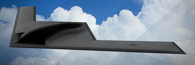 An Air Force depiction of the long-range, nuclear-capable bomber known as the B-21 Raider, which is scheduled to enter service in the mid-2020s. (Photo credit: U.S. Air Force)