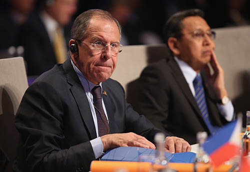 Russian Foreign Minister Sergey Lavrov attends the opening plenary session of the nuclear security summit in The Hague on March 24. Russia said last month that it does not intend to participate in the preparations for the next summit, which is to be held in the United States in 2016. (Sean Gallup/Getty Images)