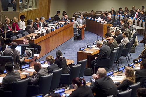 The UN General Assembly First Committee meets to adopt an agenda and work program on October 2. (UN Photo)