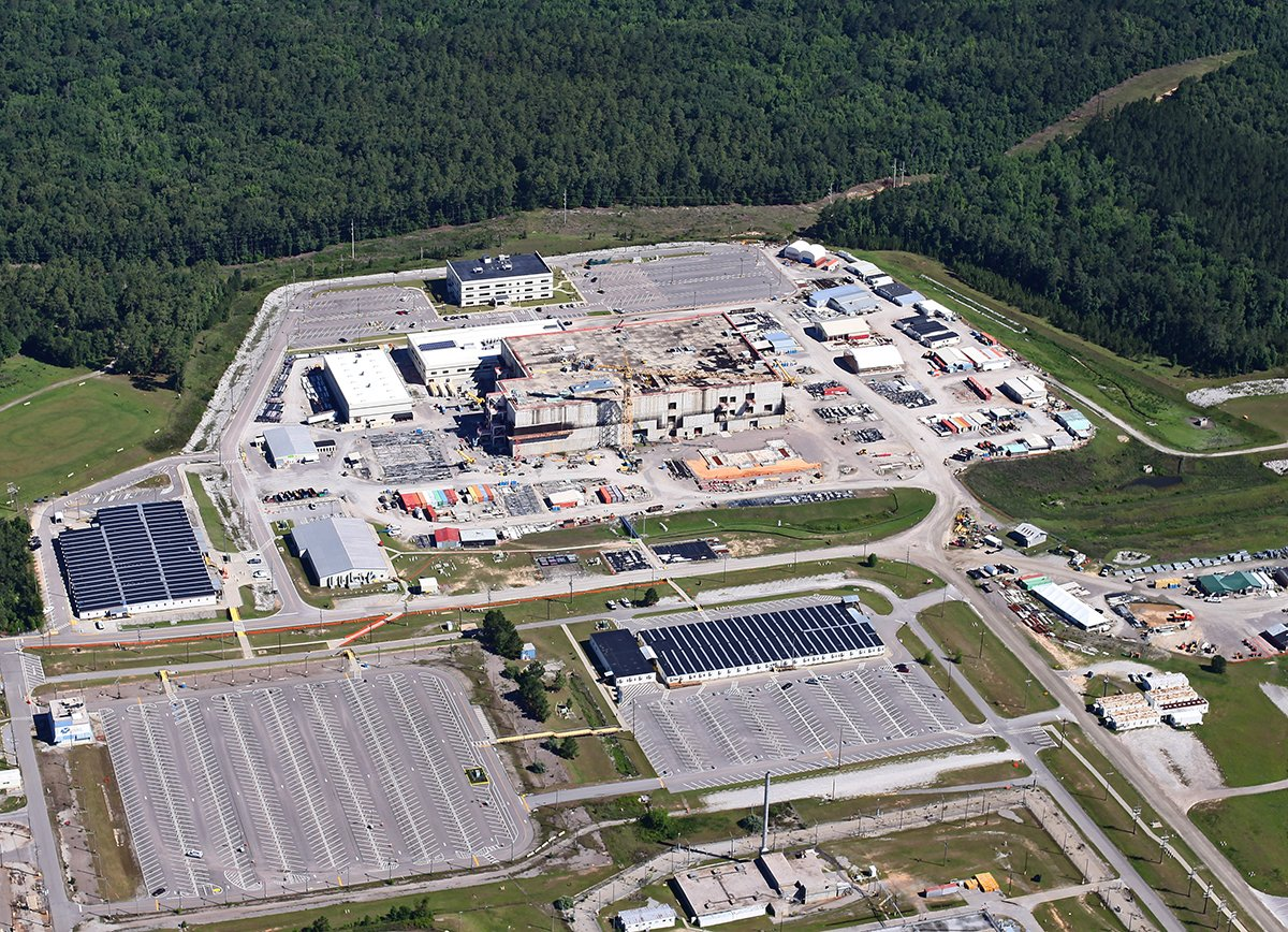 A May 26 aerial view of the mixed-oxide (MOX) fuel fabrication plant at the Energy Department's Savannah River Site in South Carolina. (Photo credit: Photo Courtesy of High Flyer ©2017)