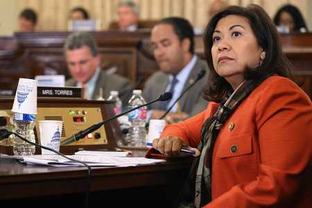 Rep. Norma Torres (D-Calif.), a member of the House Foreign Affairs Committee, introduced legislation on January 10 to prevent the Trump administration from changing export rules on firearms, close-assault weapons, and certain other weapons and ordnance. (Photo: Chip Somodevilla/Getty Images)