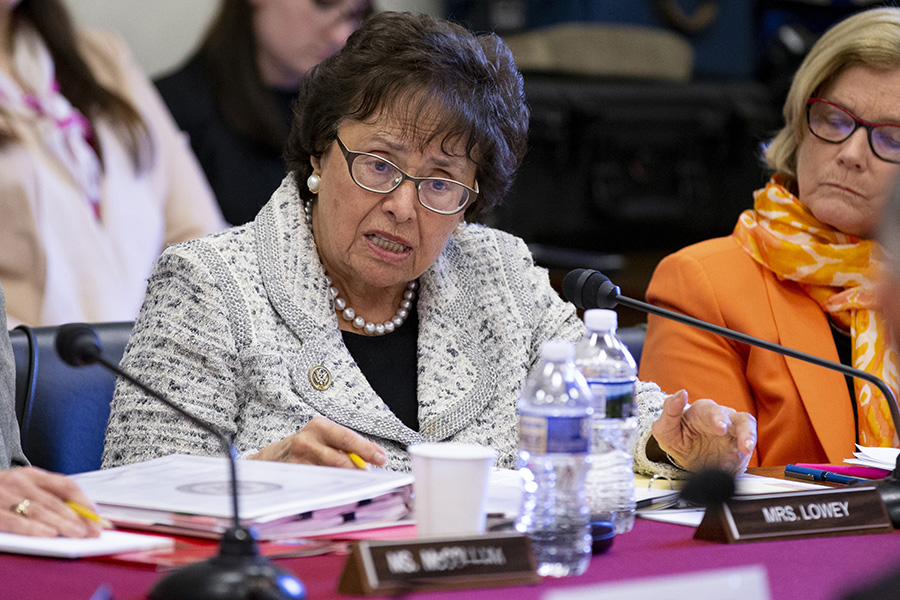 In January, Rep. Nita Lowey (D-N.Y.) is expected to make history as the first woman to chair the House Appropriations Committee. In photo, Lowey questions a witness during an appropriations committee hearing April 26. (Photo: Alex Edelman/Getty Images)