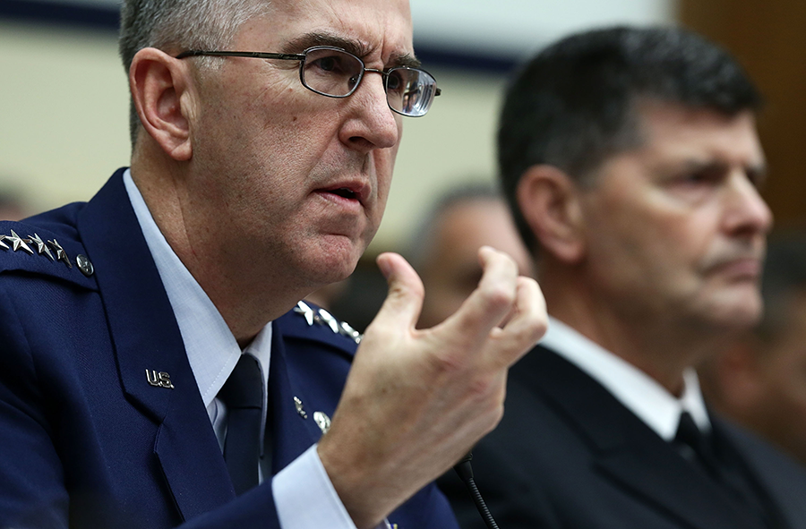 Air Force Gen. John Hyten, head of the U.S. Strategic Command, testifies to Congress in 2017. He recently described himself as a supporter of the New Strategic Arms Reduction Treaty. (Photo: Alex Wong/Getty Images)