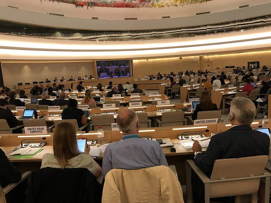 International experts and officials meet at an annual meeting of the Biological Weapons Convention in Geneva on July 29–Aug. 8. (Photo: Jenifer Mackby)