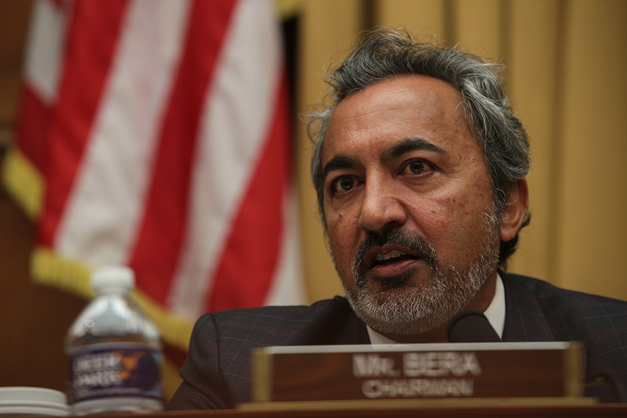 Rep. Ami Bera (D-Calif.) has criticized a Trump administration effort to modify oversight of certain U.S. firearms exports.  (Photo: Alex Wong/Getty Images)