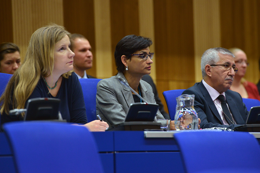 Participants attend a 2014 IAEA Seminar on promoting the entry into force of the amendment to the Convention on the Physical Protection of Nuclear Material. The amendment came into force two years later and is scheduled to be reviewed in 2021.  (Photo: Dean Calma/IAEA)