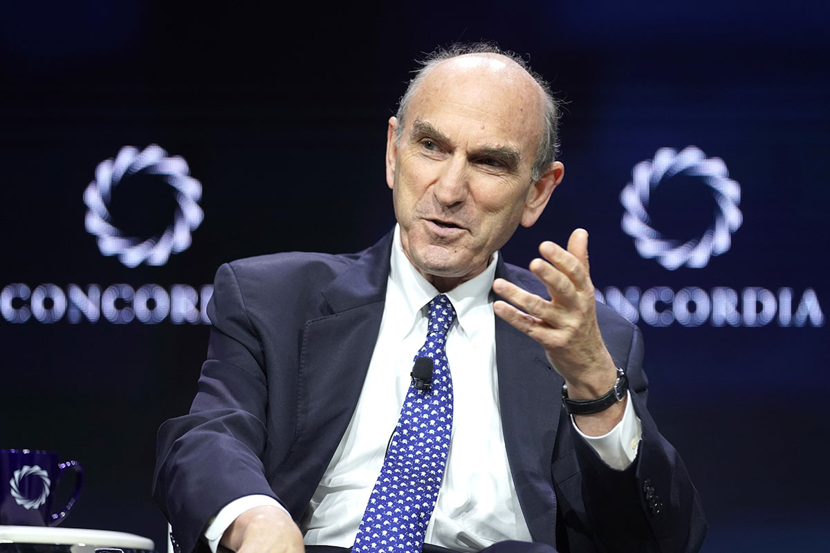 Elliott Abrams at the 2019 Concordia Annual Summit in September 2019 (Photo by Riccardo Savi/Getty Images).